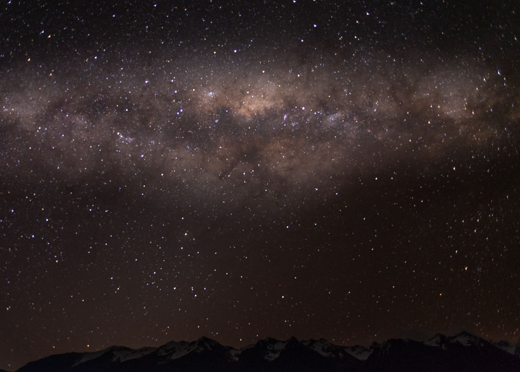 The milky way as seen from the dark sky preserve in Jasper National Park