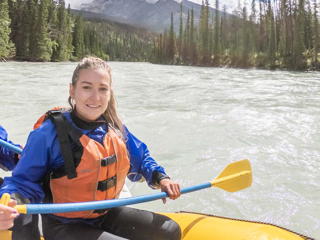 Bailey white water rafting in Canada