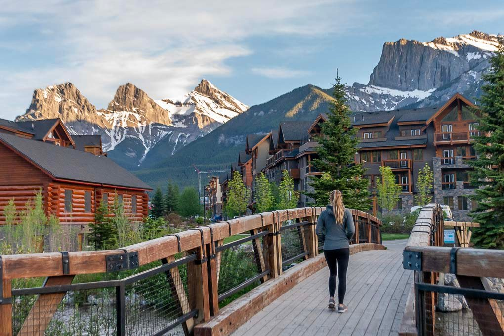 The Policeman's Creek Boardwalk in Canmore