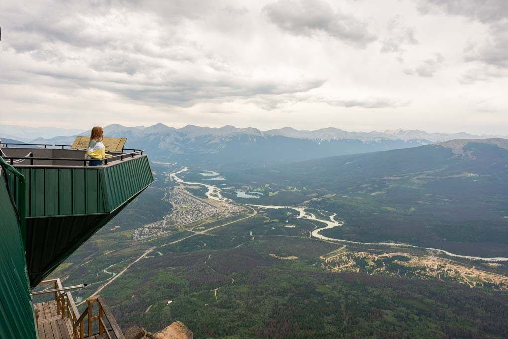 Views from the top of the jasper Sky Tram in Jasper National Park, Canada