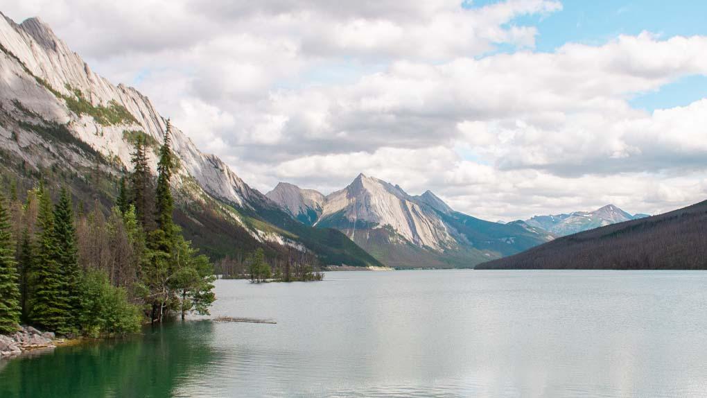 Panoramic view of Medicine Lake, Jasper