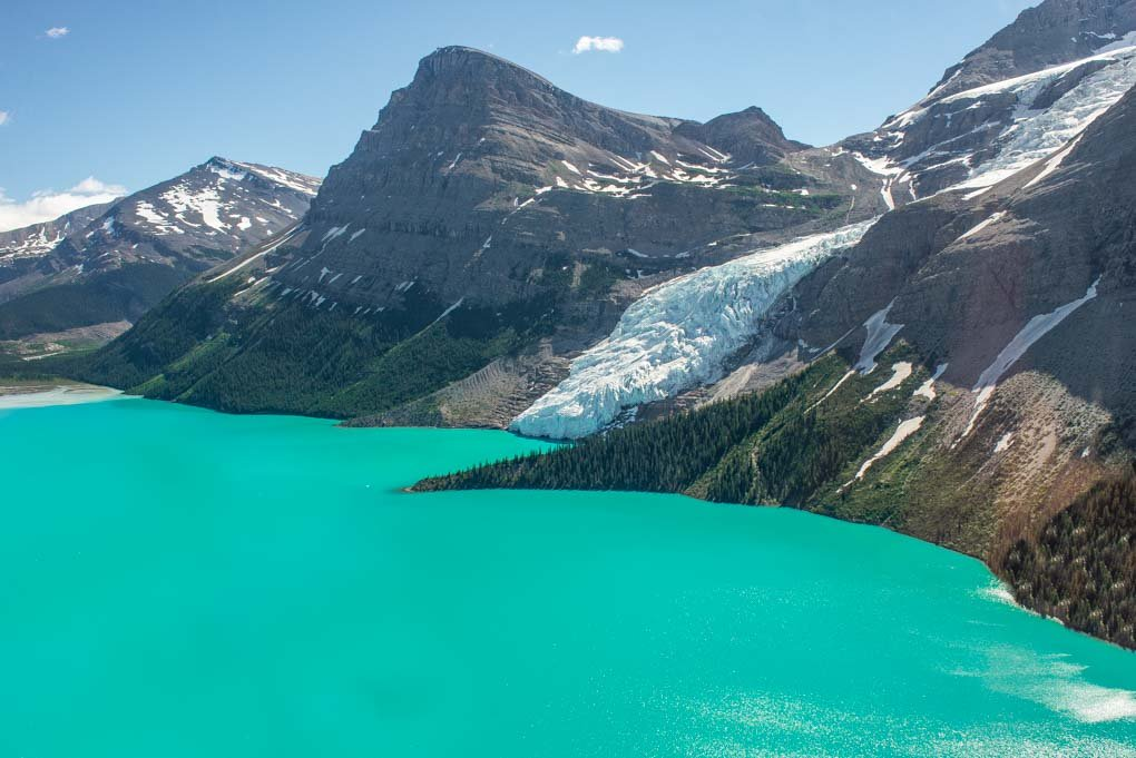 A helicopter ride above Mt Robson Provincial Park