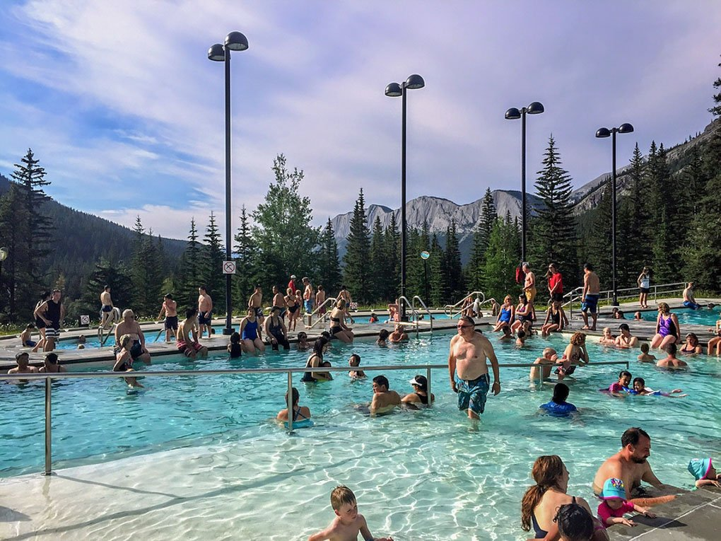 The miette hot Springs in Jasper National Park