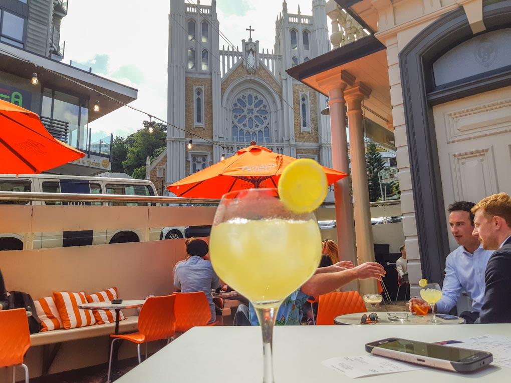 A cocktail at a bar on Cuba Street in Wellington, NZ