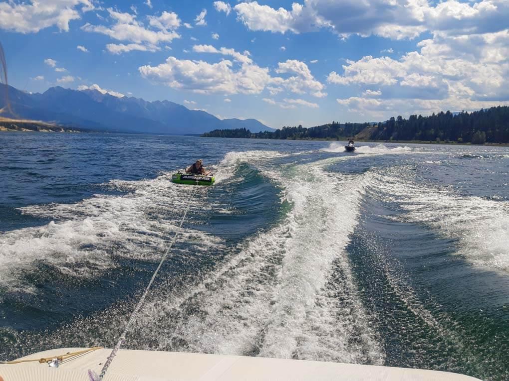 Tuding on Lake Windermere, BC