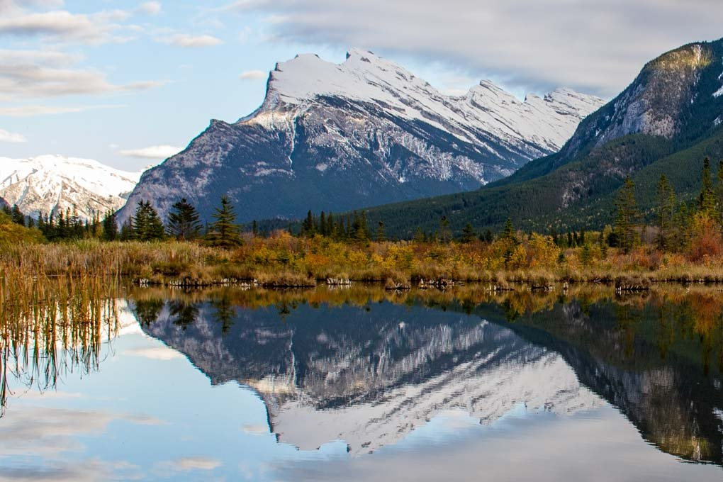 Reflections at Vermillion Lakes in Banff National Park
