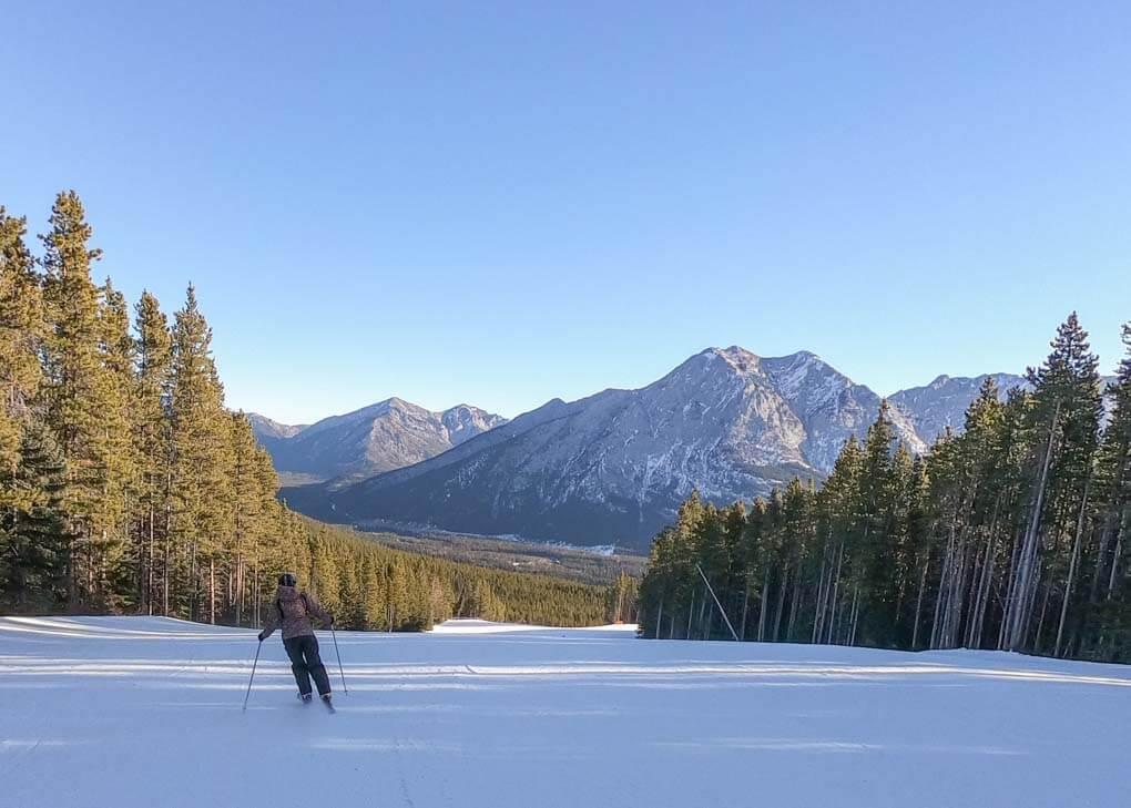 Skiing at Nakiska Ski Field near Canmore