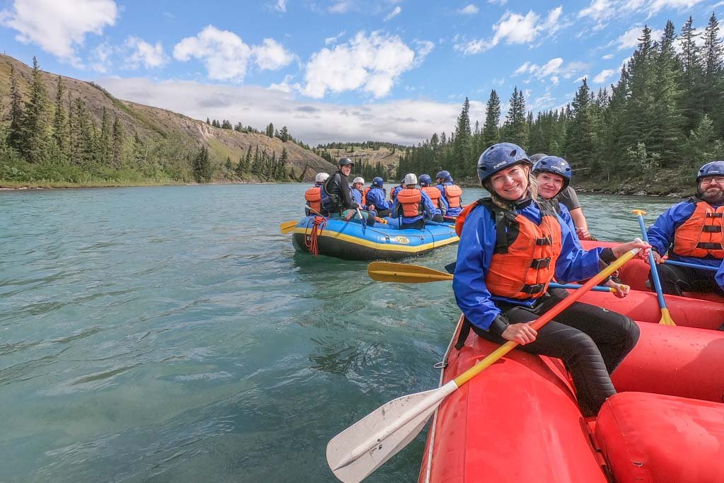 Whiste water rafting in Canmore, Alberta