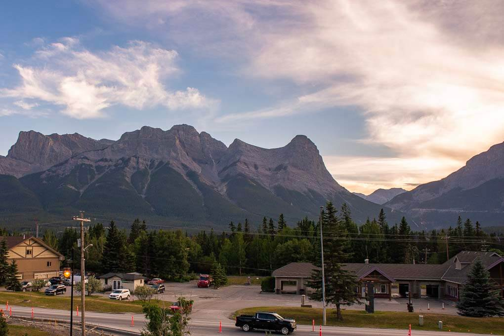 The views from the Coast Canmore Hotel & Conference Centre