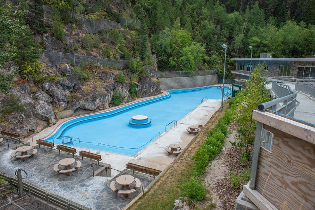 The radium Hot Springs before they open!