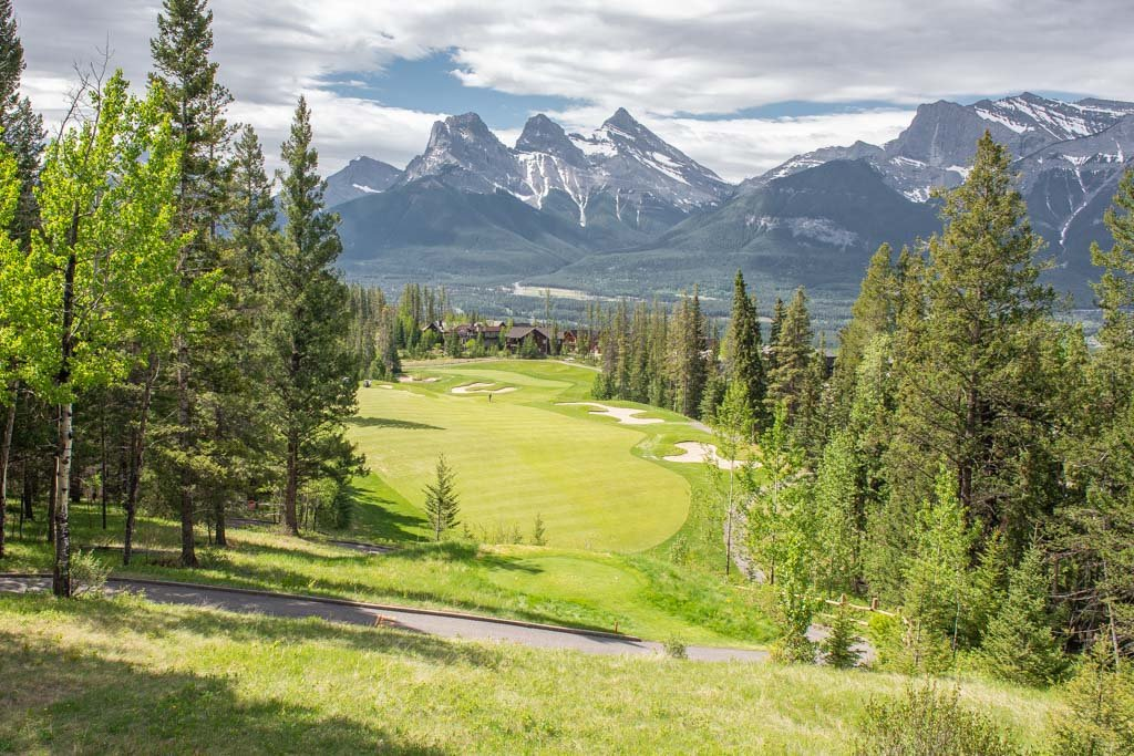 A hole at Canmore Gold Club