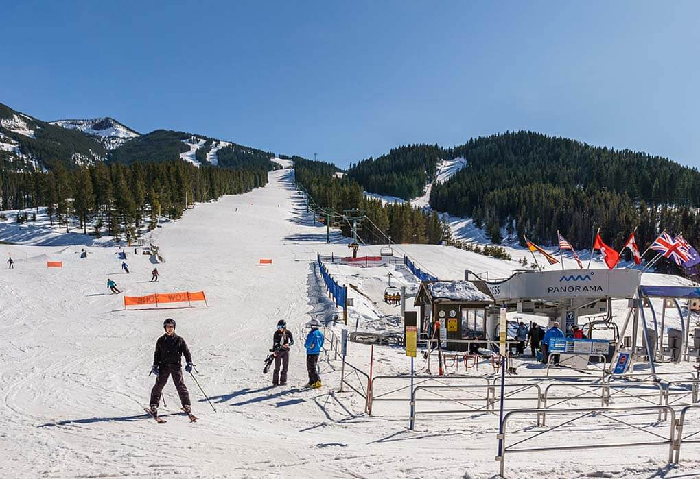 Skiing at Panorama Mountain Resort near Invermere, BC