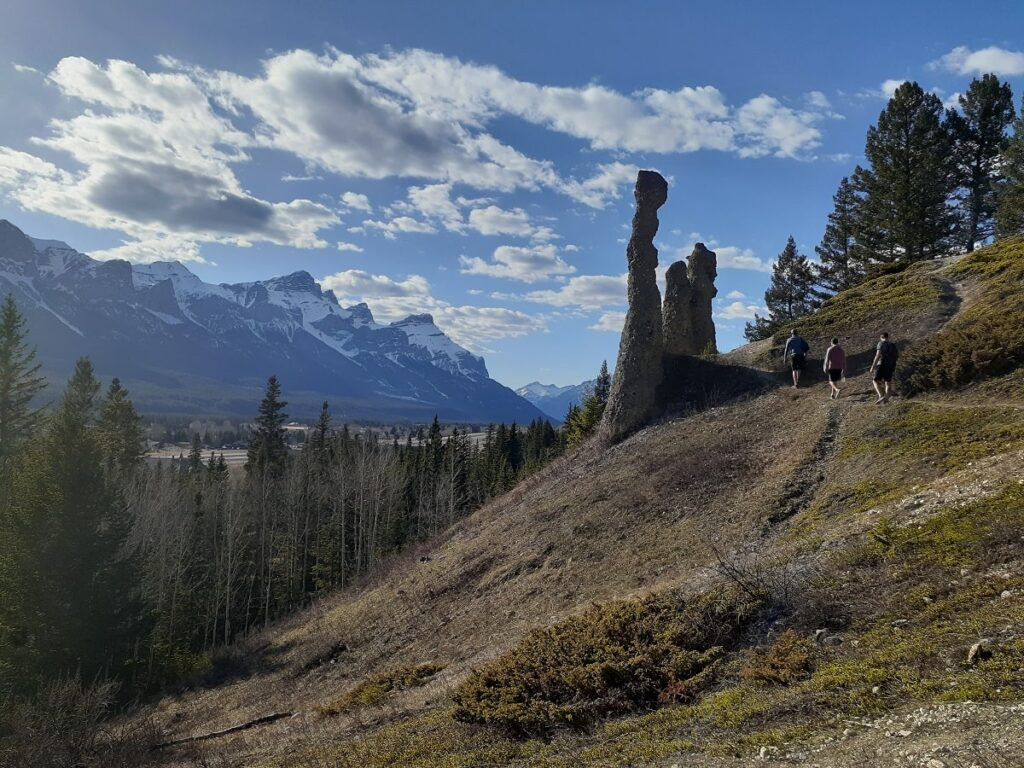 hiking to the Canmore hoodoos