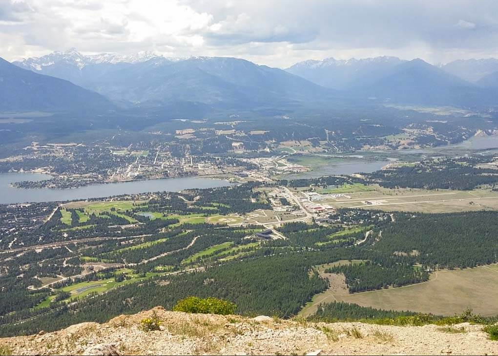The view from Swansea Mountain, Invermere