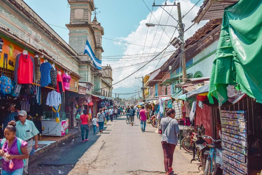The markets in Granada, Nicaragua