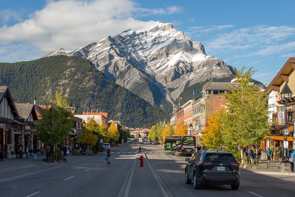 Banff Ave during fall