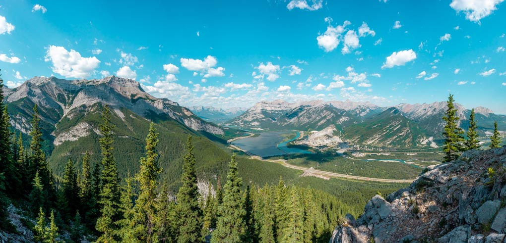 Panoramic shot of the views from Heart Moutain in Canmore