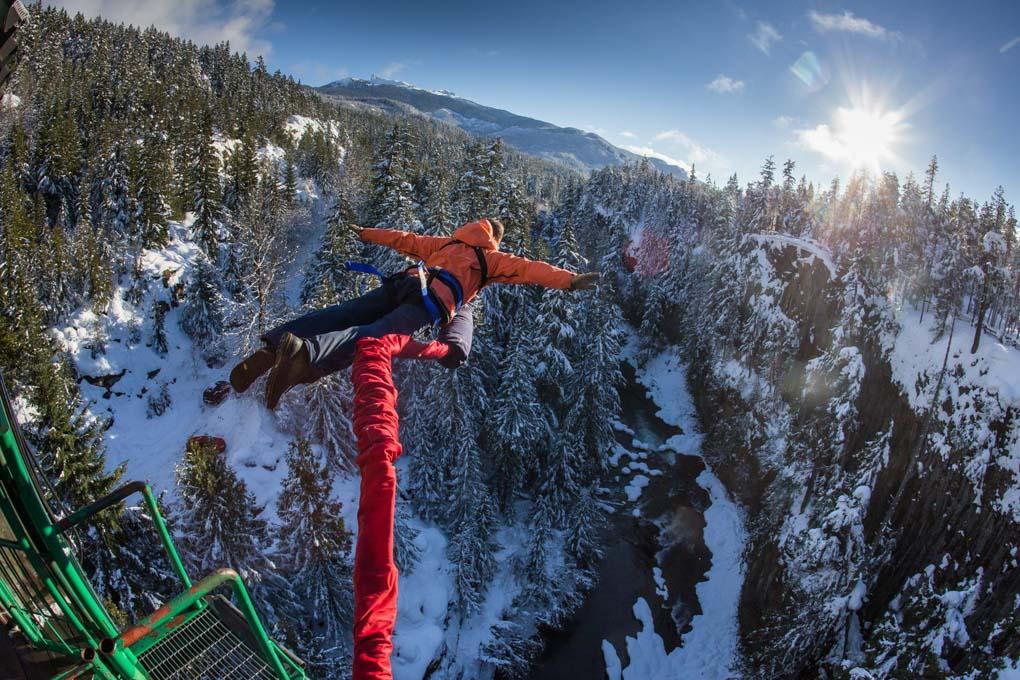 Bungee jumping at Whistler Bungee Jump