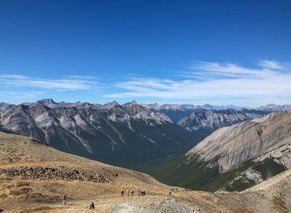 Views of the Rocky Mountains on the Ha Ling Peak Hike in Canmore, Alberta