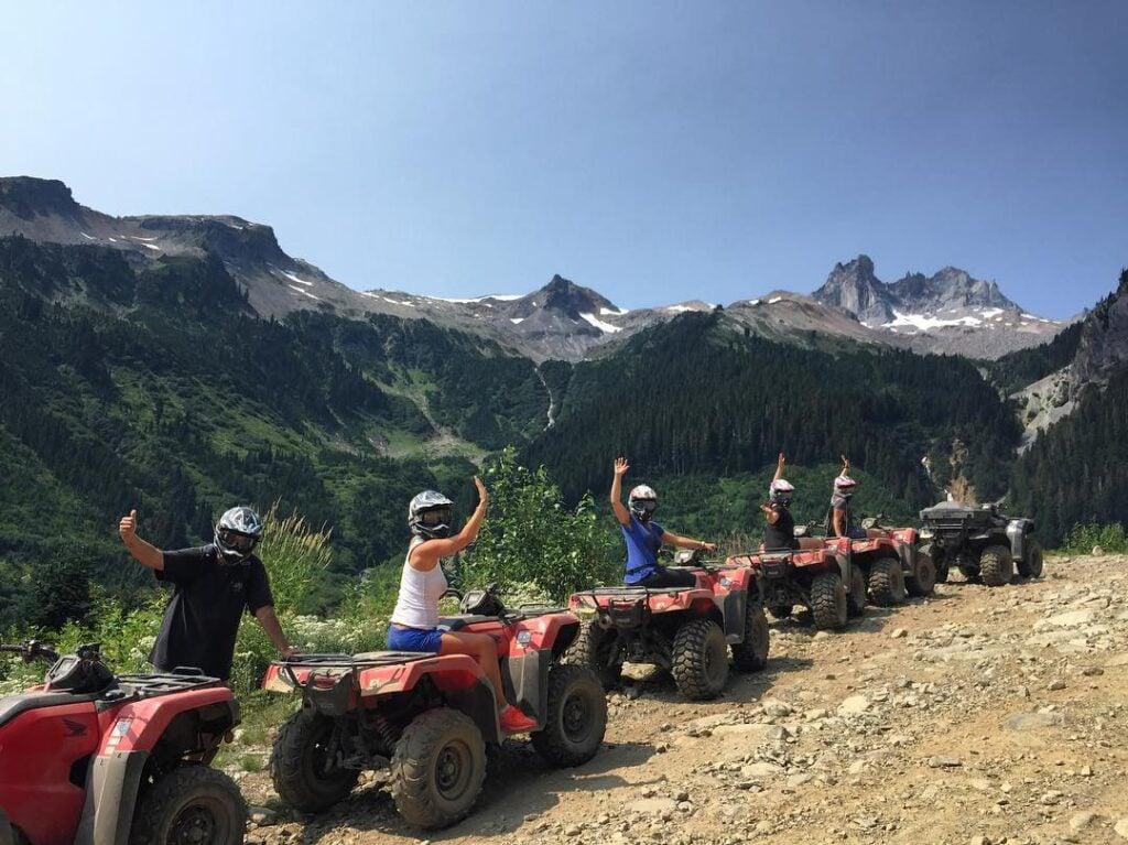 an atv tour in Whistler, BC