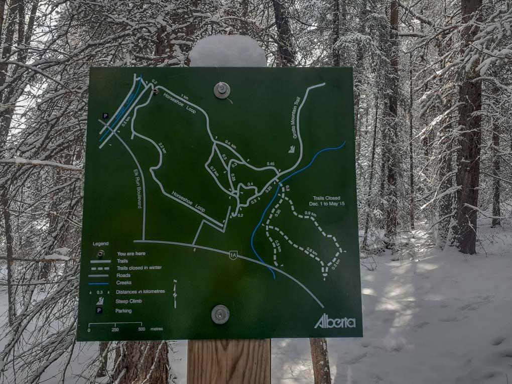 Map of the Horseshoe Loop Trail