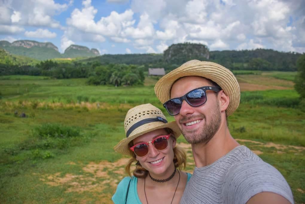 Bailey and Daniel take a selfie in Vinales, Cuba