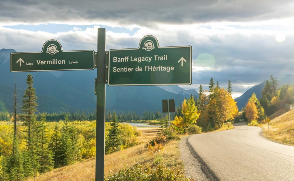 A sign on the Rocky Mountain Legacy Trail