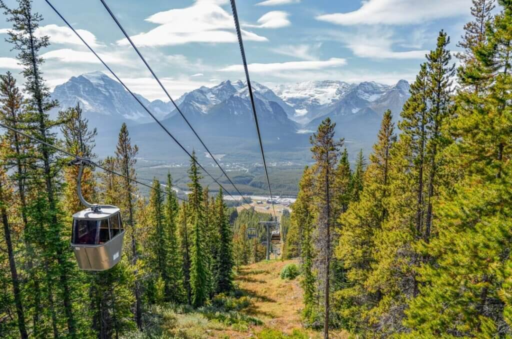 The Lake Louise sightseeing gondola
