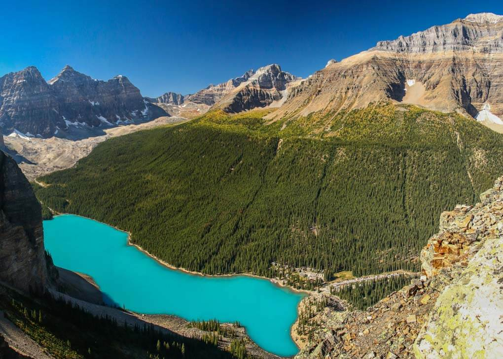 Views from the Tower of Babel at Lake Moraine