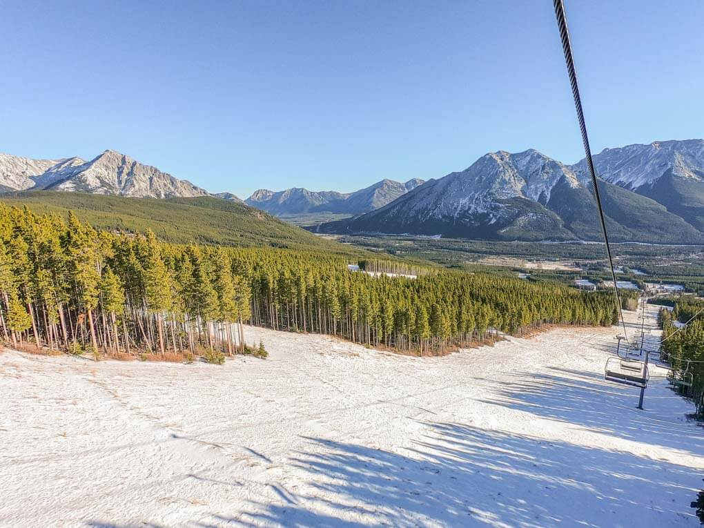 The Nakiska Ski Field near Canmore Alberta