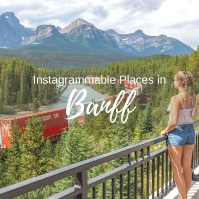 instagrammable places in Banff