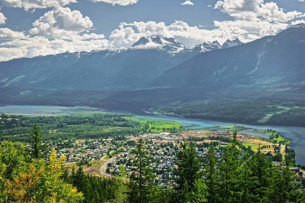 View of Revelstoke, BC