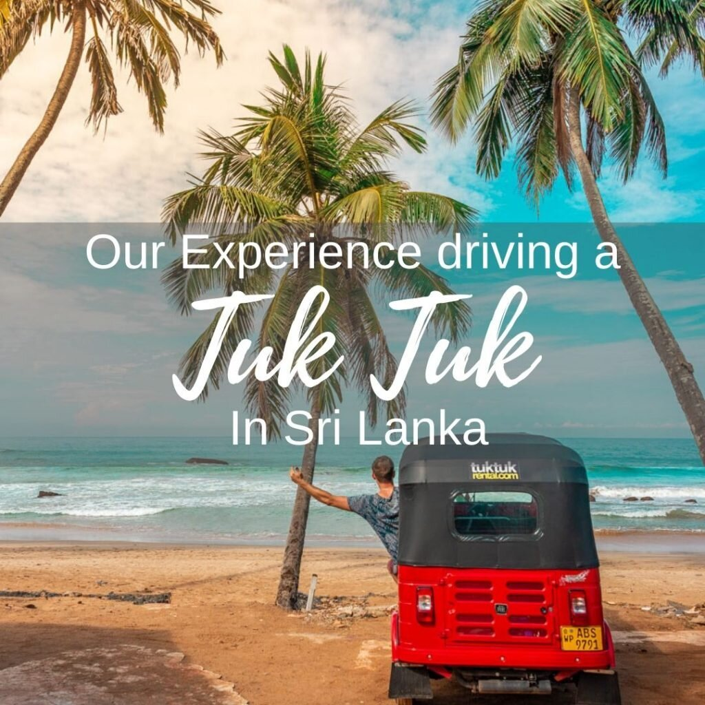 Dribing a tuk tuk in Sri Lanka
