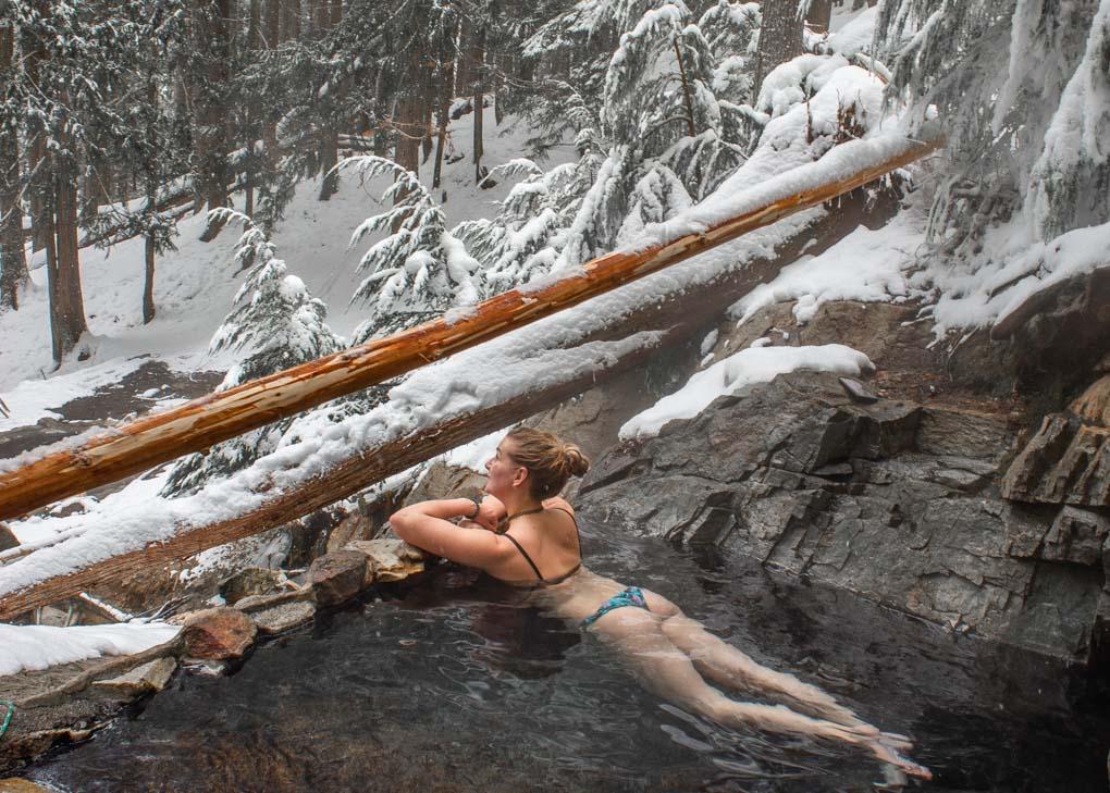 The St Leon Hot Springs near Revelstoke, BC