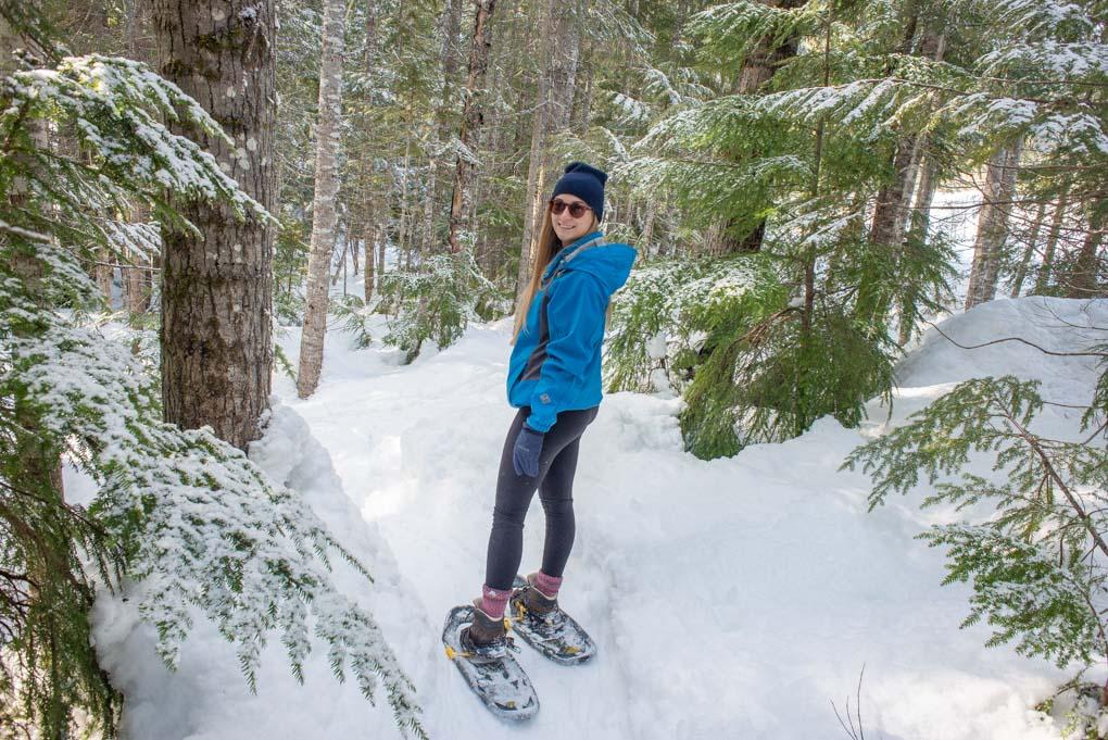 Snow shoewing in Jasper