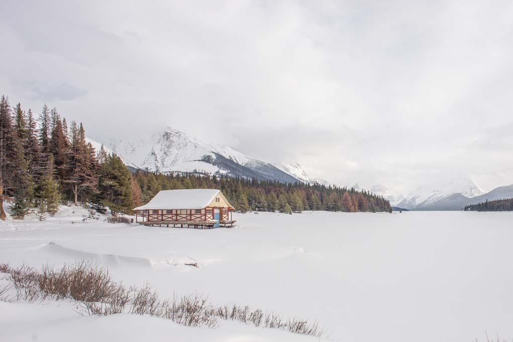 Malign Lake in winter