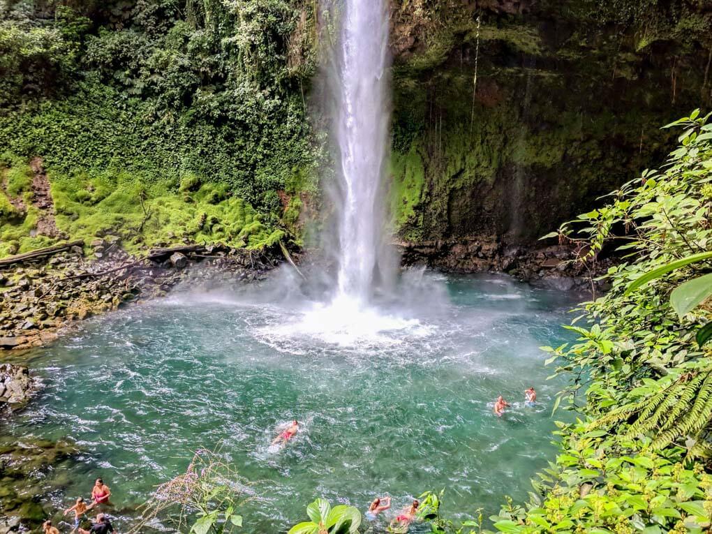 The Base of La Fortuna Waterfall, Costa Rica