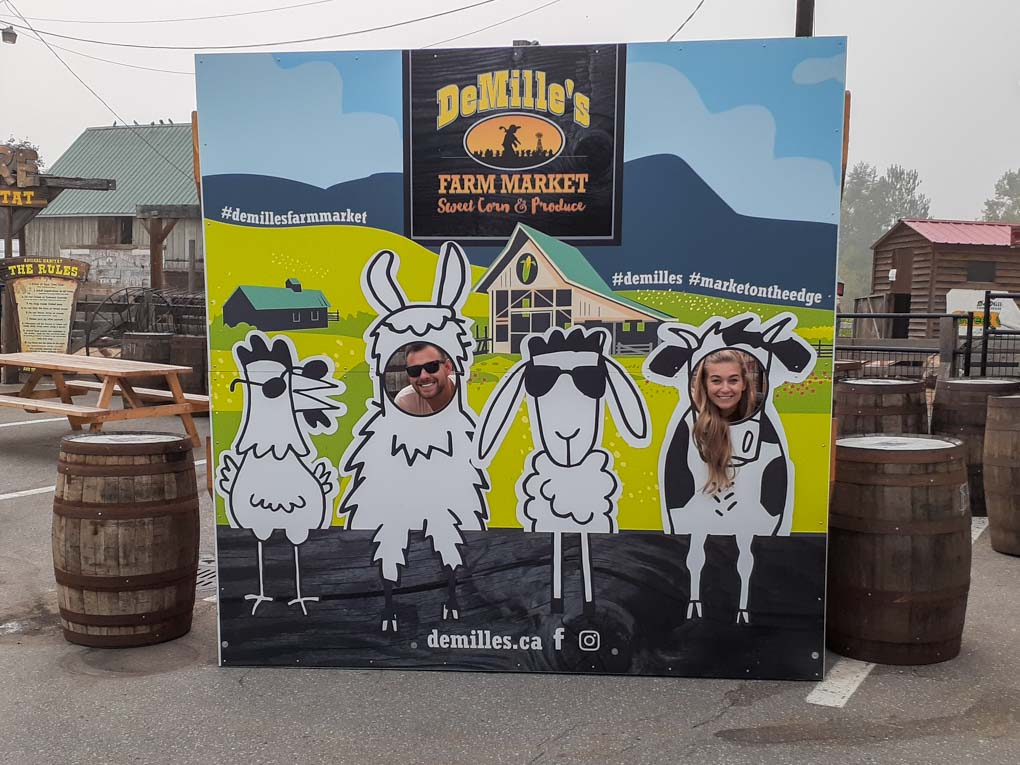 Bailey and Daniel at DeMille's Farm Market