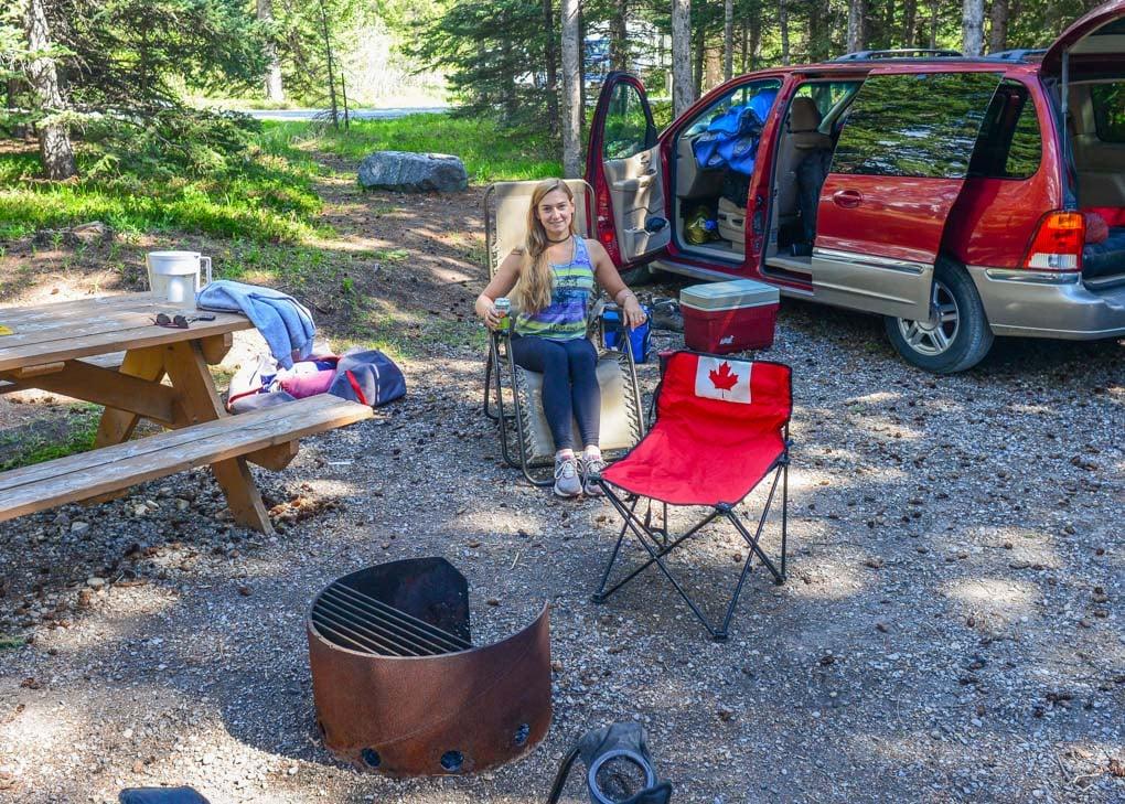 Camping in Radium