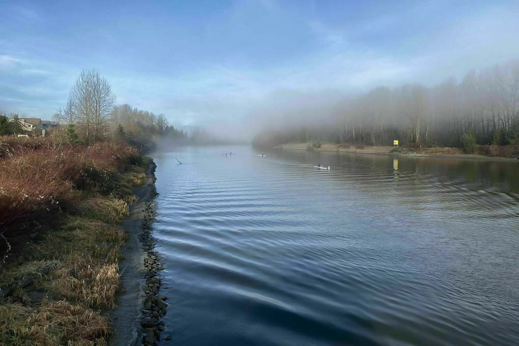 The beautiful Fraser River on the Fort to Fort Trail, Vancouver