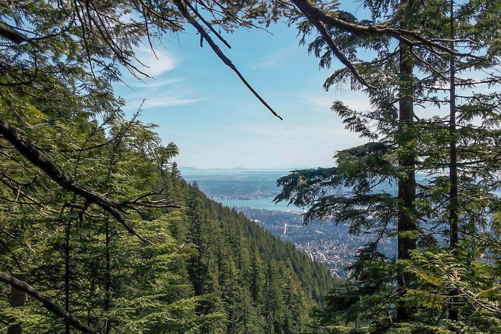 Views on the Grouse Grind, Vancouver