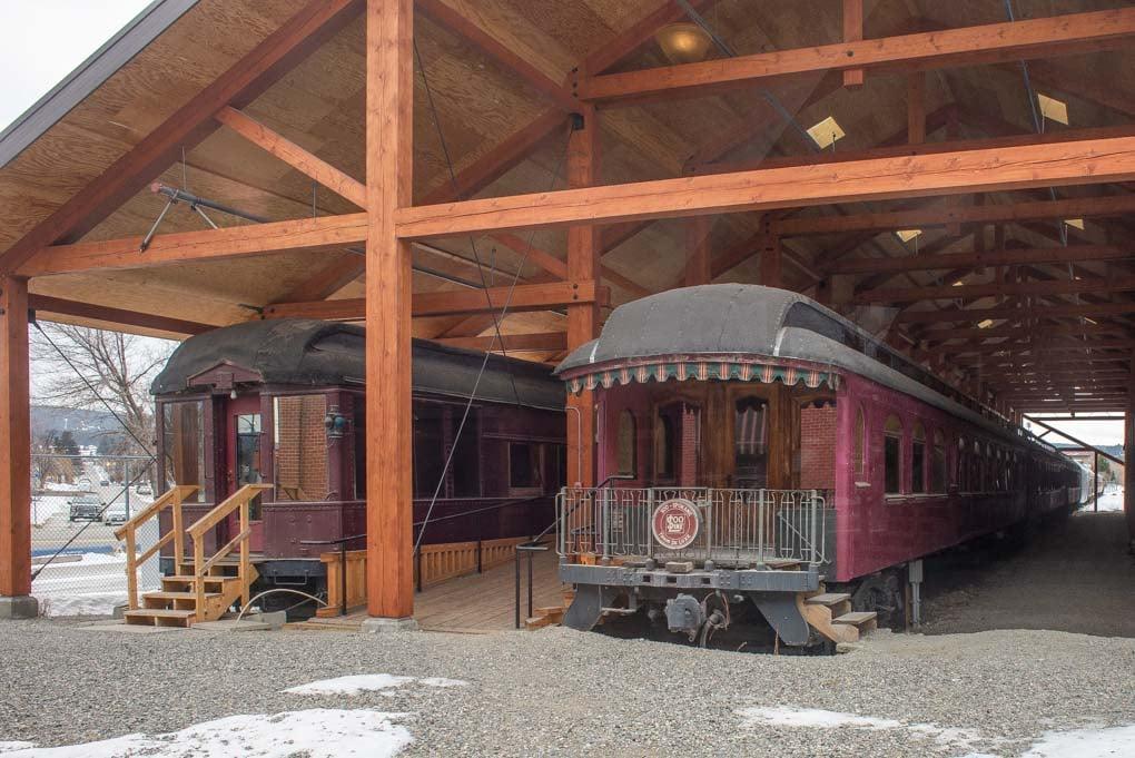 A train at the Cranbrook History Centre