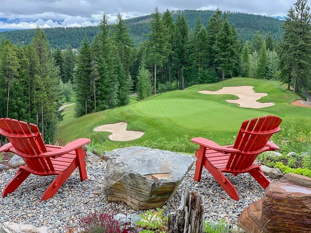 views over Kimberley from the Trickle Creek Golf Course