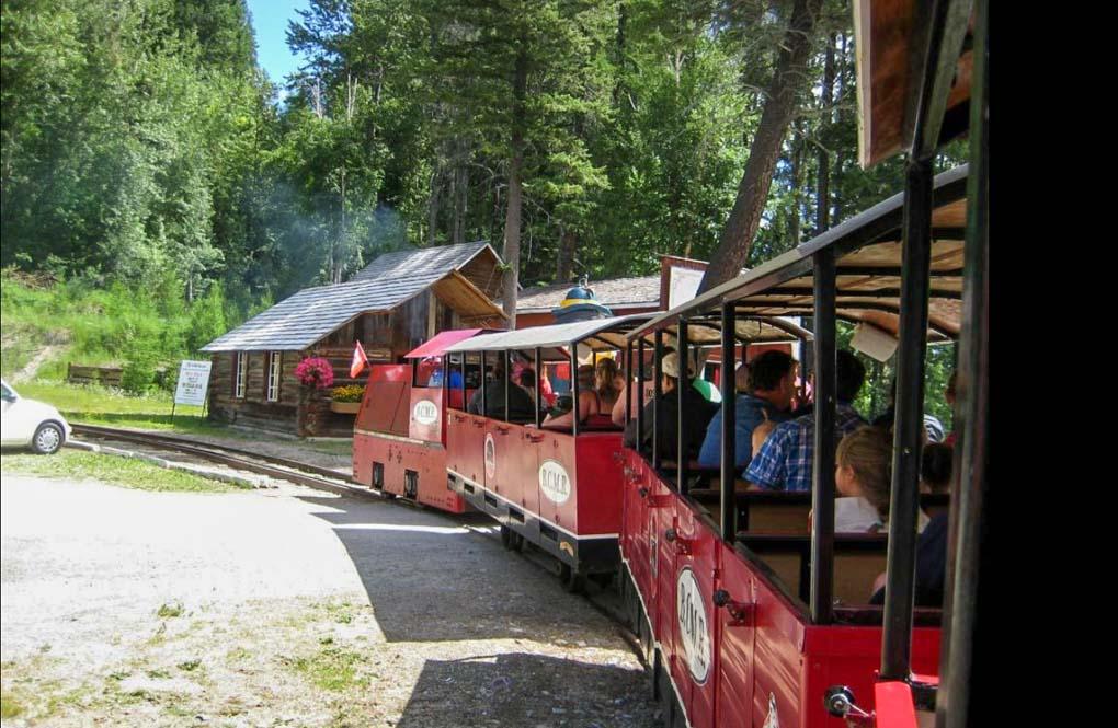 The tourists train at the Kimberley's Underground Mining Railway