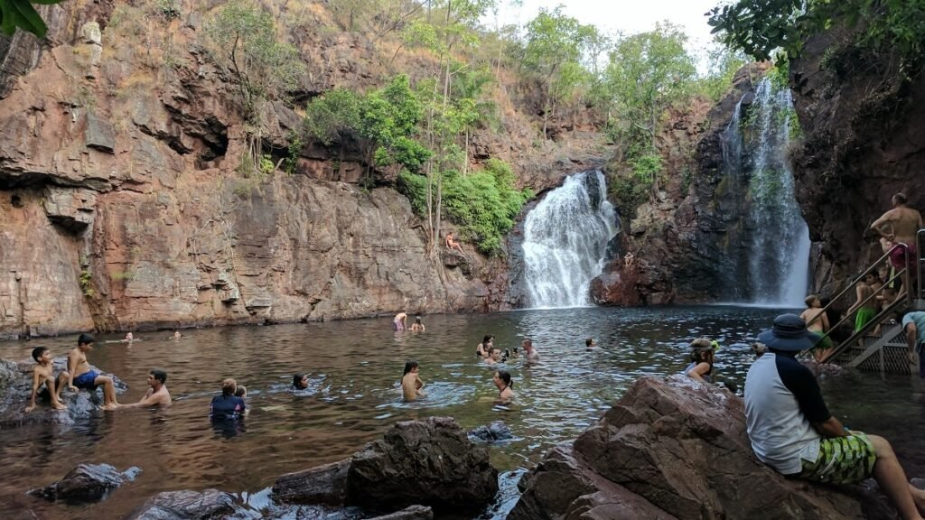 people swimming at Florence Falls in Litchfield National Park