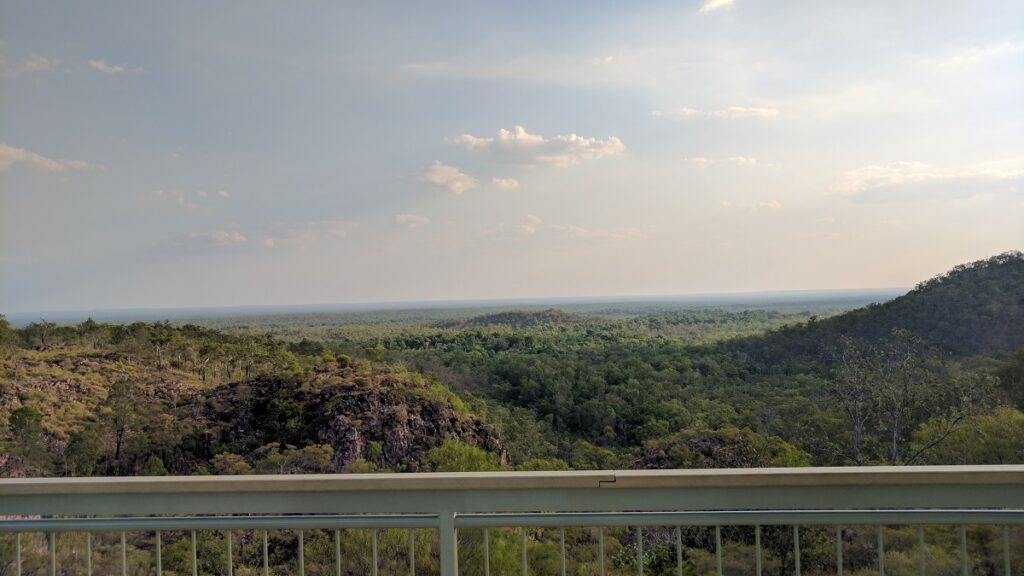 The view from Tolmer Falls lookout