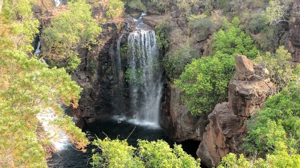 a waterfall in Litchfield National Park