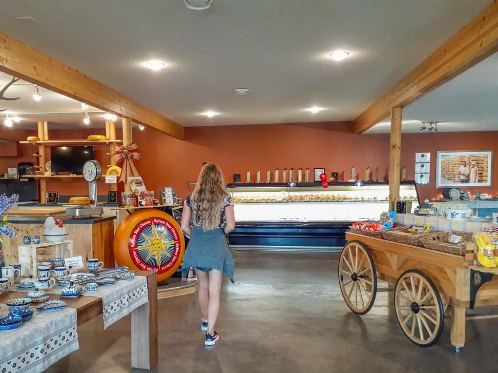 inside of Sylvan Star Cheese shop