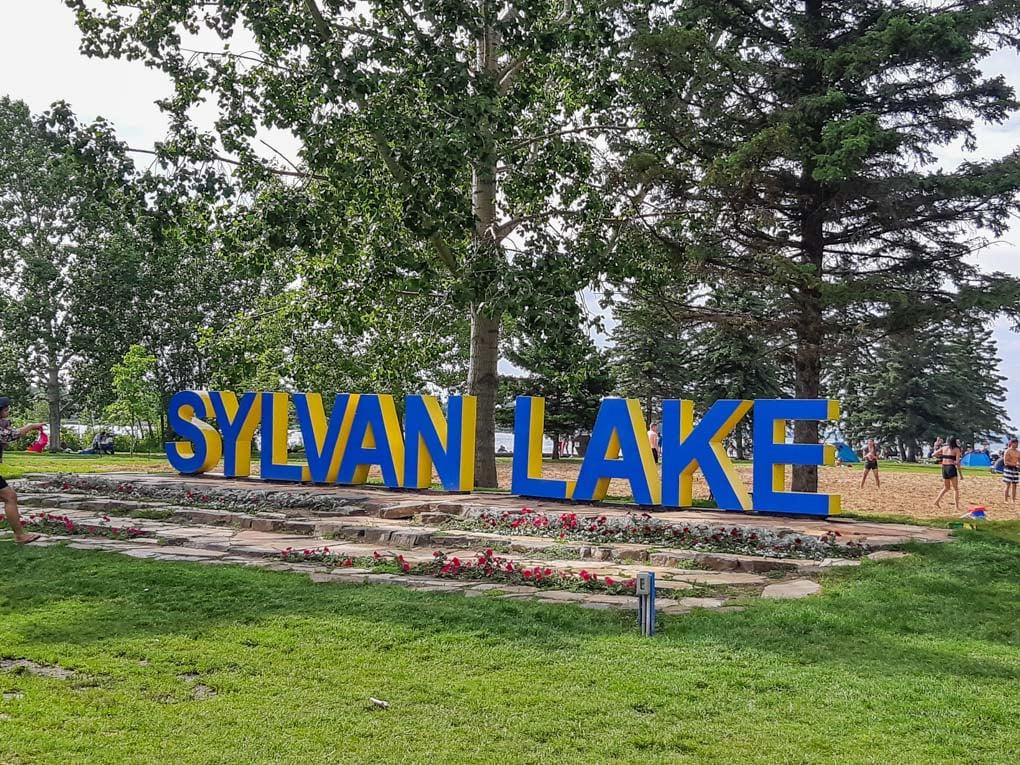 the famous Sylvan Lake sign