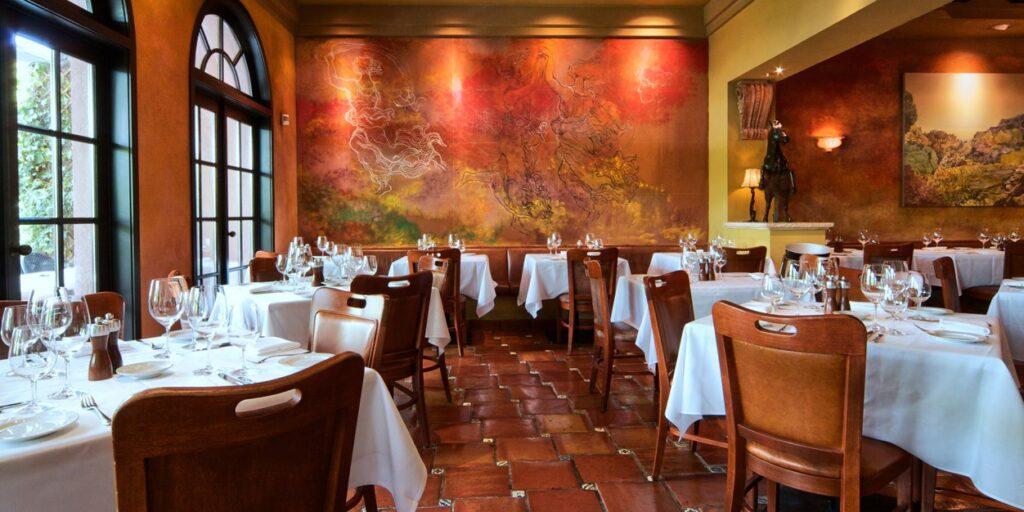 the inside of CinCin Restaurant in Vancouver